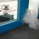 Prova fumo durante Blower Door Test
